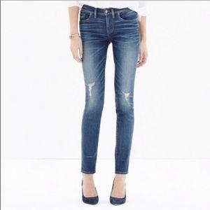 MADEWELL Skinny Skinny Belmont Distressed Jeans 26